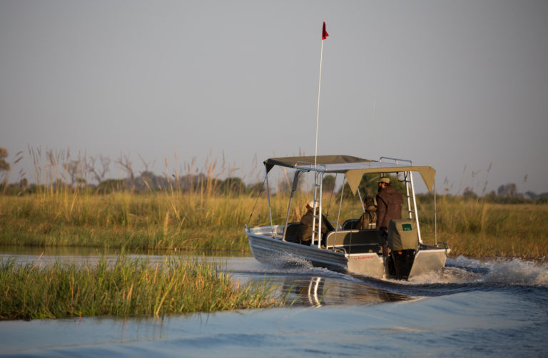 Boating in the Okavango Delta with Beagle Expeditions