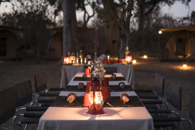 Dinner by lantern light with Beagle Expeditions