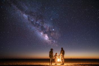 stargazing from the Kalahari skies on the salt pans