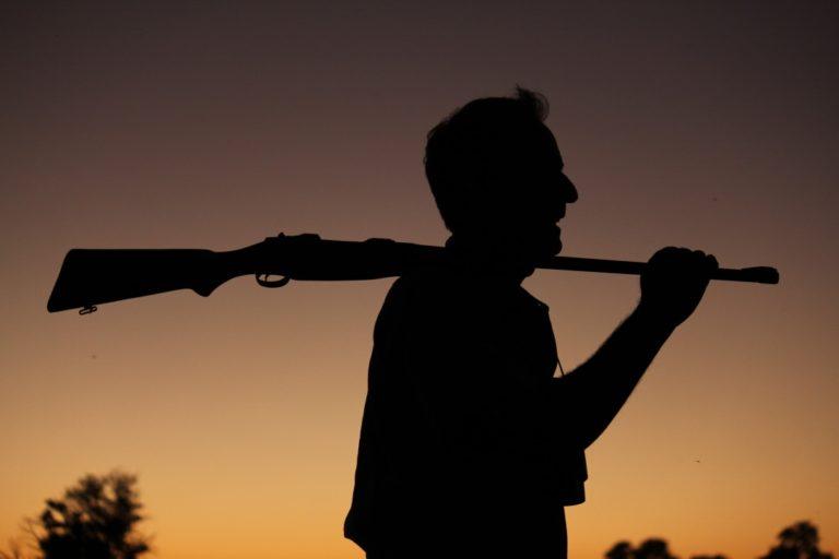 David Foot Silhouette on Safari
