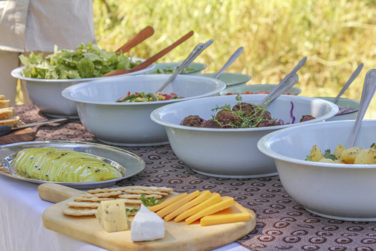 A delicious lunch spread prepared by guides of David Foot Safaris