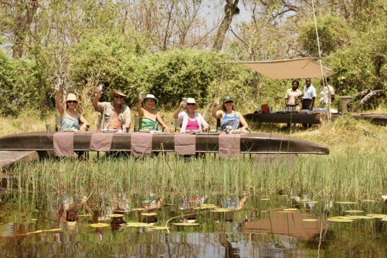 Al Fresco dining on a David Foot Safari