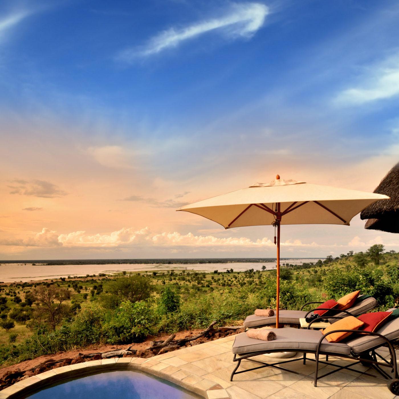 Plunge pool with a view at Ngoma Safari Lodge
