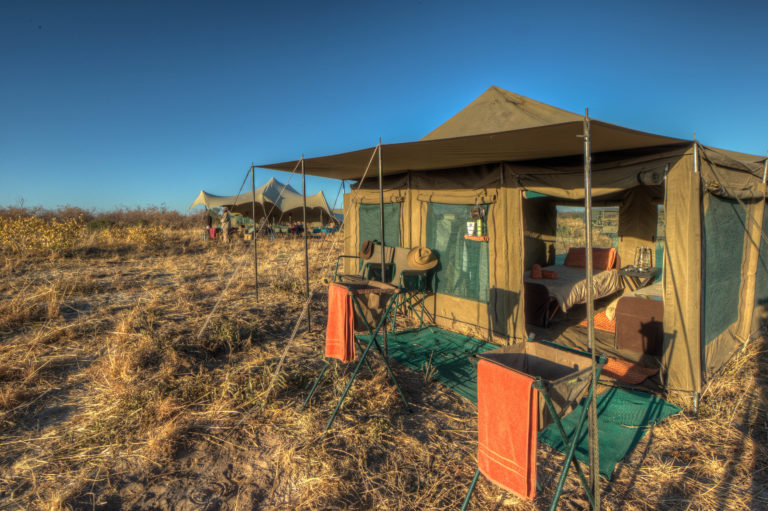 Pride of Africa standard mobile camp exterior view