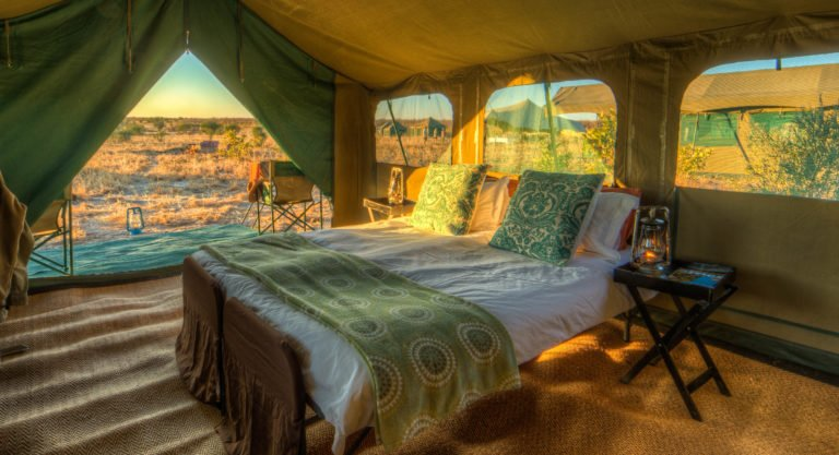 Pride of Africa mobile luxury camps guest tent