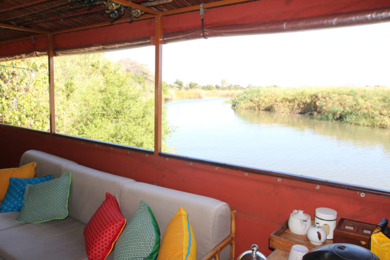 Exterior view from Kubu Houseboat