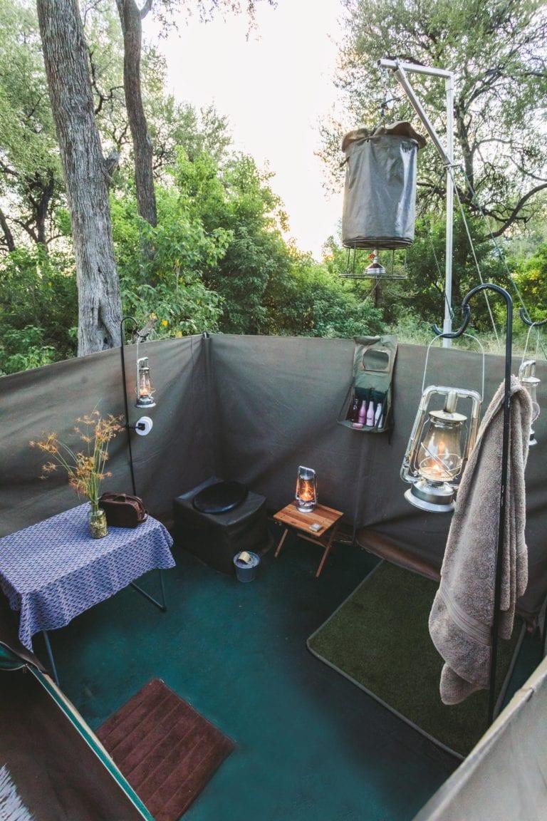 Semi luxury tents - Walk Botswana Safaris
