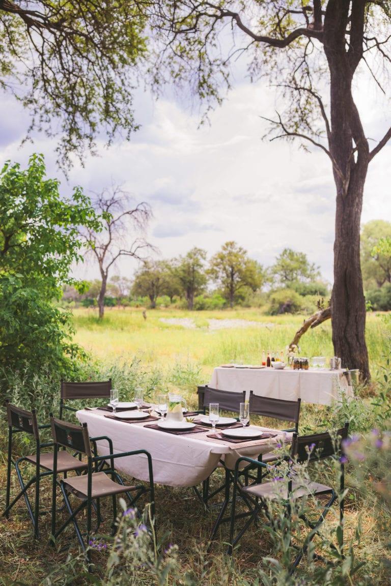 Lunch a la bushveld with Walk Botswana Safaris