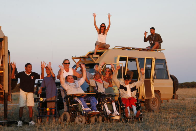 Group fun on Endeavour safari tour