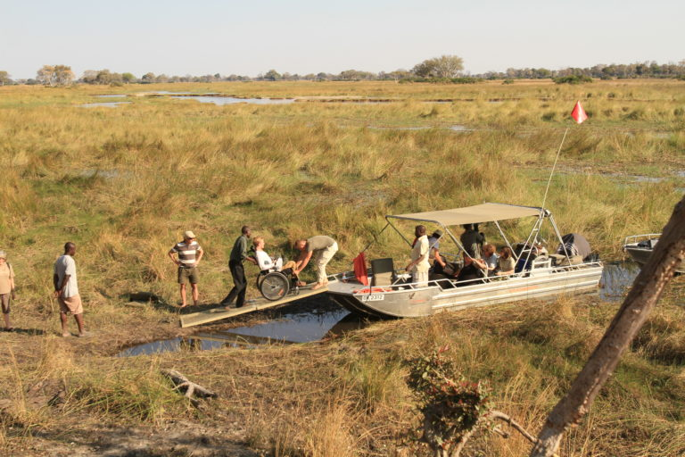 Endeavour Safaris offer accessible boating safaris