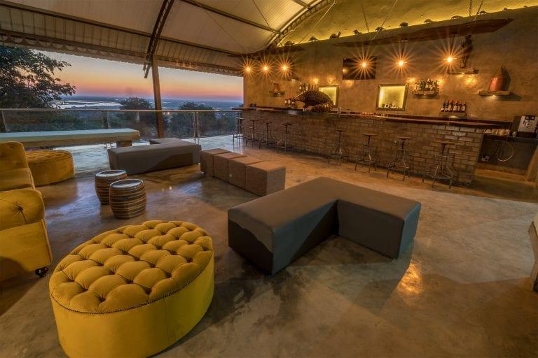 The bar at Chobe Pangolin Hotel