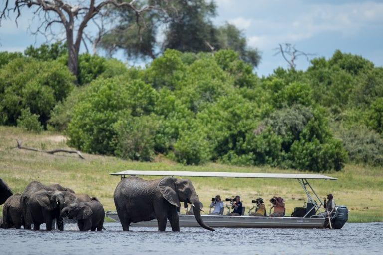 Botswana photographic safari features boat safaris on the Chobe River