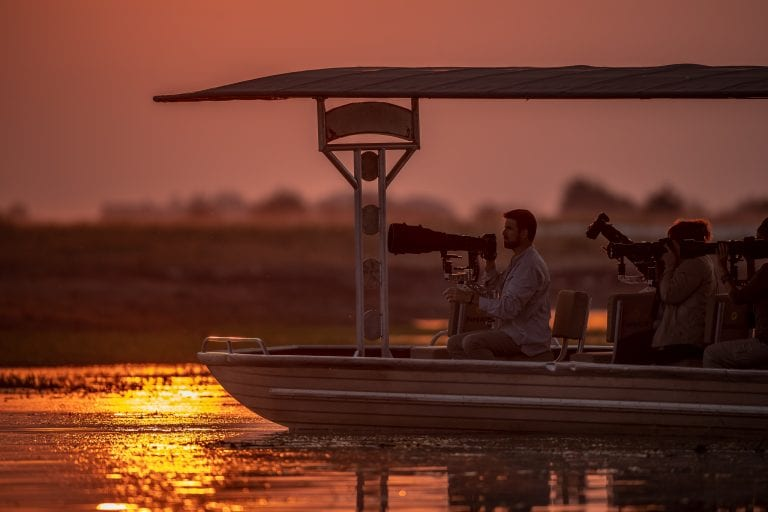 The Pangolin Safaris boats are specially modified for photographers