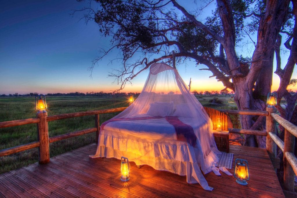 The star bed at Kanana is one of the best in Botswana